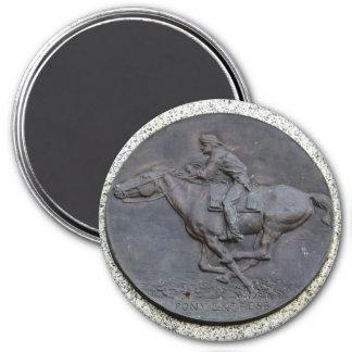 Folsom Ikone: Pony Express-Hintermarkierung Runder Magnet 7,6 Cm