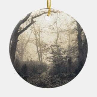Fontainebleau-Wald Keramik Ornament