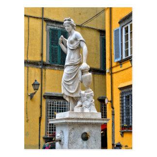 Fontana della Pupporona, Lucca, Italien Postkarte