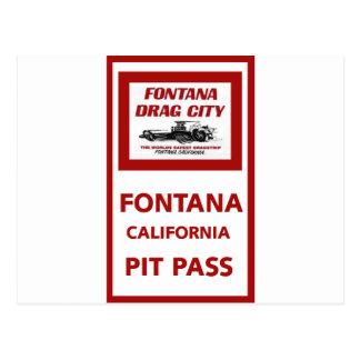 Fontana-Widerstand-Streifen-Gruben-Durchlauf Postkarte