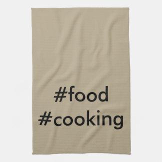 #food #cooking Geschirrtuch-Grill-Party-Koch-Koch Handtuch