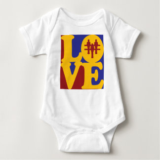 Foosball Liebe Baby Strampler