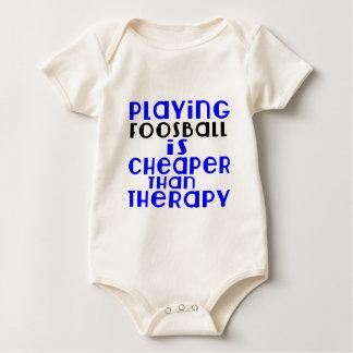 Foosball spielen billiger als Therapie Baby Strampler