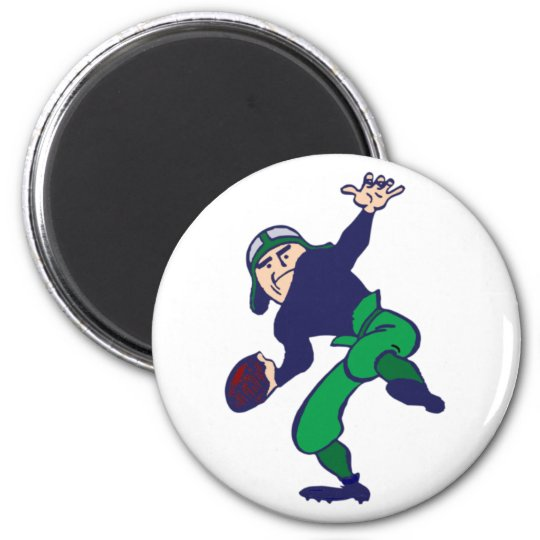 football player runder magnet 5,7 cm