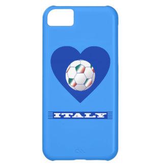 FOOTBALL Schal ITALY und Ball Fußball im Herzen iPhone 5C Hülle