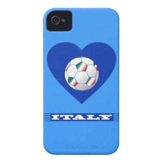FOOTBALL Schal ITALY und Ball Fußball im Herzen iPhone 4 Cover