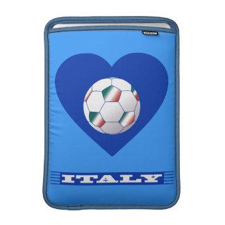 FOOTBALL Schal ITALY und Ball Fußball im Herzen Sleeves Fürs MacBook Air