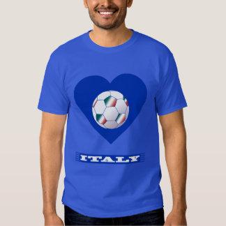 FOOTBALL Schal ITALY und Ball Fußball im Herzen Tshirt