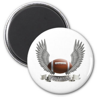football wings B Runder Magnet 5,7 Cm