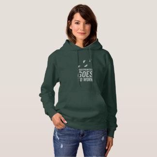 Footprinter geht zu arbeiten hoodie