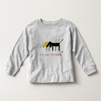 For friends T-Shirt ever with little dog Logo