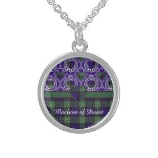 Forbes Clan karierter schottischer Tartan Sterling Silberkette