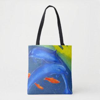 Fördermaschinen-Taschen-Tasche mit Delphinen und Tasche