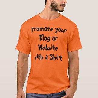 Fördern Sie Ihren Blog oder Website mit einem T-Shirt