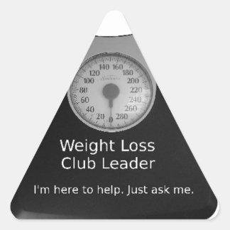 Fördernder Entwurf für Gewichts-Verlust-Trainer Dreieckiger Aufkleber