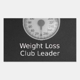 Fördernder Entwurf für Gewichts-Verlust-Trainer Rechteckiger Aufkleber
