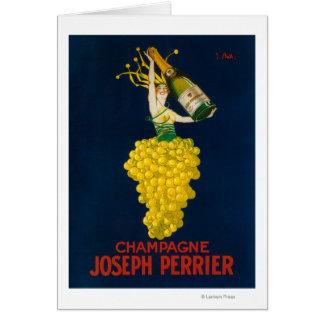 Förderndes Plakat Josephs Perrier Champagne Grußkarte