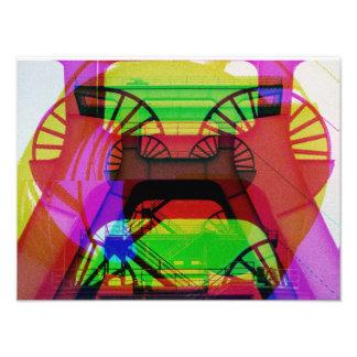 Förderturm Fotodruck