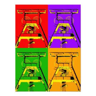 Fördertürme Fotodruck