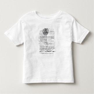Forderung des Ausschusses der Öffentlichkeit Kleinkinder T-shirt