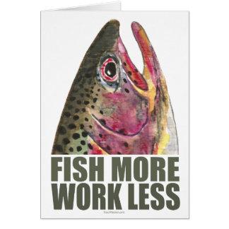 Forelle, die mehr fischt grußkarte