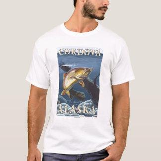 Forelle, die Querschnitt - Cordova, Alaska fischt T-Shirt