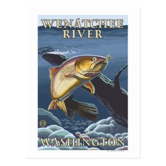 Forelle, die Querschnitt - Wenatchee Fluss, W Postkarte