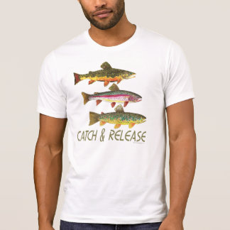 Forelle-Fang und Freigabe T-Shirt