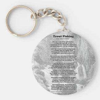 Forelle-Fischen-Gedicht Schlüsselanhänger