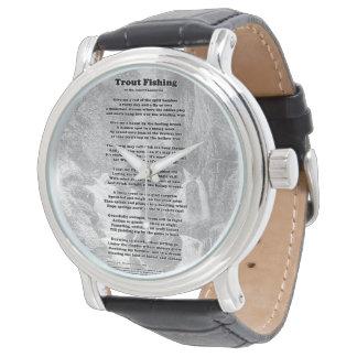 Forelle-Fischen-Gedicht Uhr