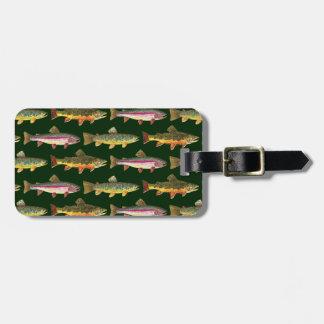 Forelle-Fischen Kofferanhänger