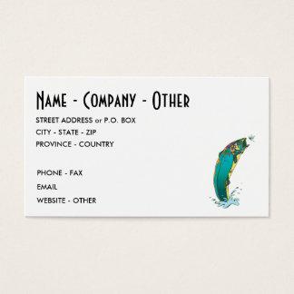 Forelle-Fischen Visitenkarte