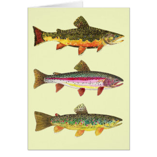 Forelle-Fliegen-Fischen Grußkarten