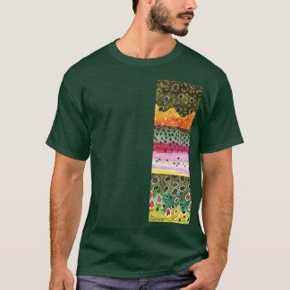 Forelle-Häute: Bach-Regenbogen Brown - T-Shirt