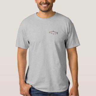 Forelle-Verfolger-Fischen-T - Shirt - gebrannte