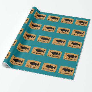 Forellenbarsch-Wand-Berg-Packpapier Geschenkpapier