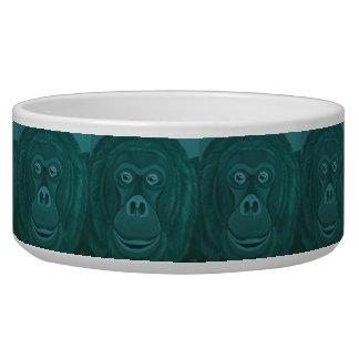 Forest Green-Orang-Utan Hundeschüssel Napf