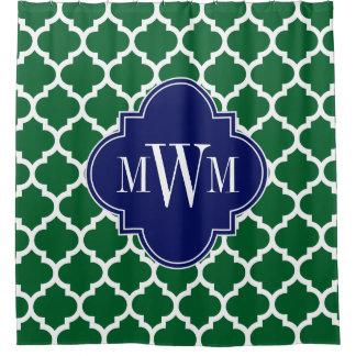 Forest Greens weißes des Marokkaner-#5 Monogramm Duschvorhang