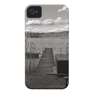 Forest Lake in Black and White iPhone 4 Case-Mate Hülle
