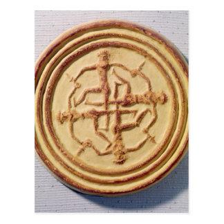 Form, die vier Krieger darstellt Postkarte