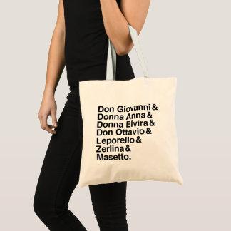 Form Dons Giovanni der Charakter-Tasche Tragetasche