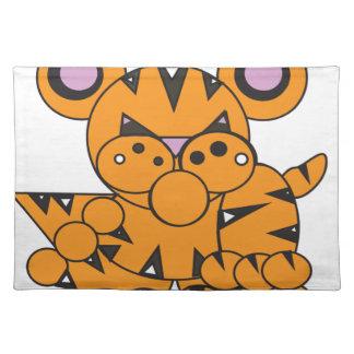 Form machte Tiger Stofftischset