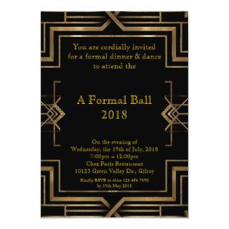 Formale des Abschlussballs ältere, große Gatsby Karte