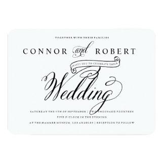 Formale homosexuelle Hochzeits-Einladung in 12,7 X 17,8 Cm Einladungskarte