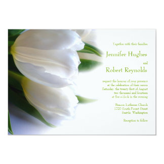 Formale weiße Hochzeits-Einladung Karte