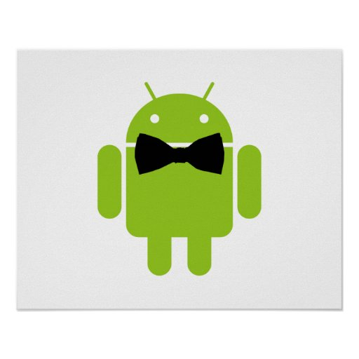 Formaler Atire Android-Roboter Plakate