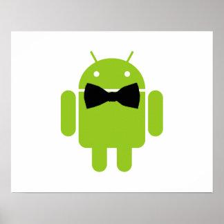 Formaler Atire grüner androider Roboter Poster