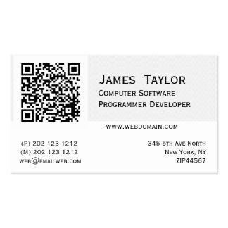 Formaler eleganter Computerprogrammierer-Designer Visitenkarte