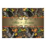 Formales Camouflage-Hochzeits-Einladungs-12x18 Individuelle Ankündigskarten
