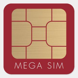 Format-Imitatgold intelligenter SIM Karte Mega- Quadratischer Aufkleber